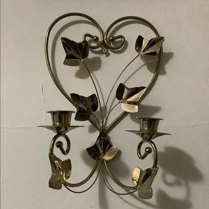 Vintage Accents - Vintage Heart & Ivy Leaves Candle Holder